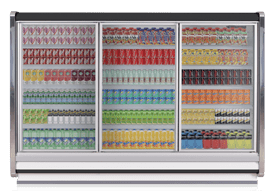Remote Multi-Deck upright bottle cooler